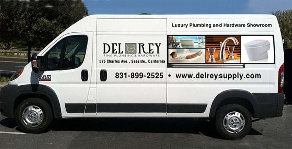 Del Rey Luxury Plumbing and Hardware truck