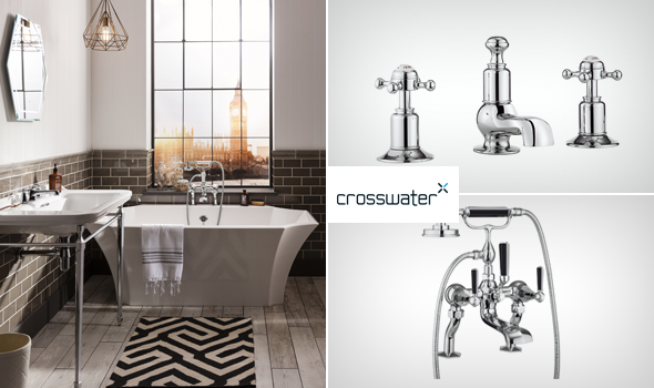 Crosswater Waldorf bathroom, faucets