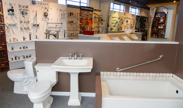 toilets, tubs, sink, bathroom hardware