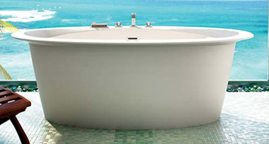 tub by the sea