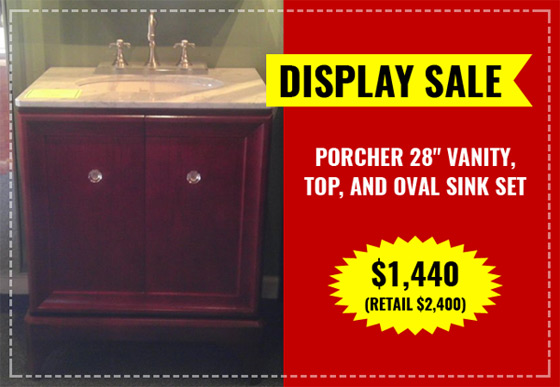 Display Sale, bathroom